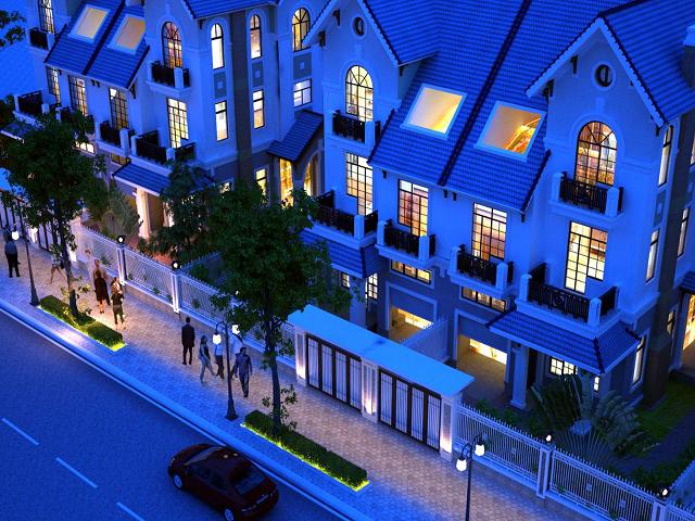 Thiết kế kiến trúc đẹp mắt, điểm nổi bật của biệt thự Geleximco